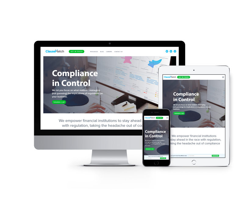 Сайт для стартапа в банковской сфере из Лондона